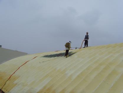 선경하우징 체육관아치스판지붕